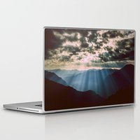 mountains Laptop & iPad Skins featuring mountainS Dark Sunset by 2sweet4words Designs
