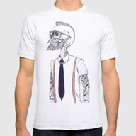The Gentleman Becomes A … Mens Fitted Tee Ash Grey SMALL