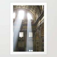 Sun rays in the Vatican Art Print
