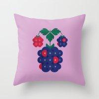 Fruit: Blackberry Throw Pillow