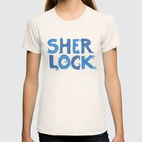 Sherlock Womens Fitted Tee Natural SMALL