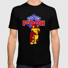 Doctor Pooh Mens Fitted Tee SMALL Black