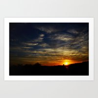 Colorful Sunset Art Print