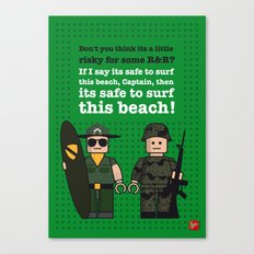 My apocalypse now lego dialogue poster Canvas Print