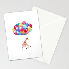 Baby Giraffe can Fly Stationery Cards