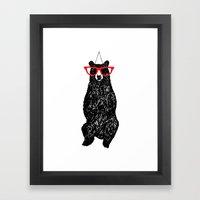 Mr. Hipster Bear  Framed Art Print