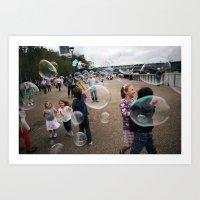 bubbles at the tate Art Print