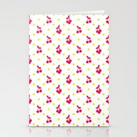 Dots And Cherries Stationery Cards