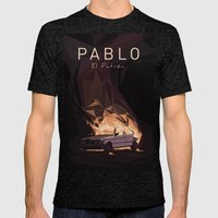 Pablo Mens Fitted Tee Tri-Black SMALL