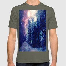 Galaxy Forest : Deep Pastels Mens Fitted Tee Lieutenant SMALL