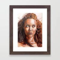 A BLACK BEAUTY     By Davy Wong Framed Art Print