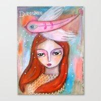 Blessings - Girl Art Canvas Print