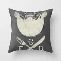 Eat me and/or Die! Throw Pillow