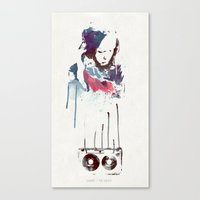 Love Is a Mix tape Canvas Print