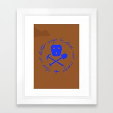 Coal Pirate Framed Art Print
