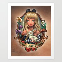 Follow The White Rabbit. Art Print