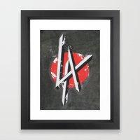 Art On The Run: Heavy Metal LA sticker, Hollywood, CA Framed Art Print