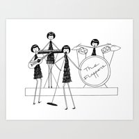 Flapper Band Art Print