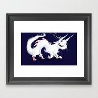 Dragon-Cat Framed Art Print