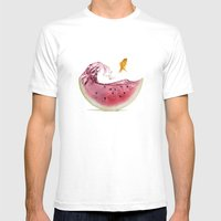 Watermelon Goldfish 02 Mens Fitted Tee White SMALL