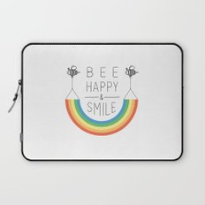 Bee Happy and Smile Laptop Sleeve