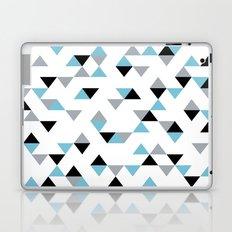 Triangles Ice Blue Laptop & iPad Skin