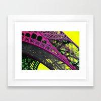 purple paris Framed Art Print