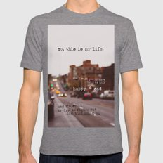Perks Of Being A Wallflo… Mens Fitted Tee Tri-Grey SMALL