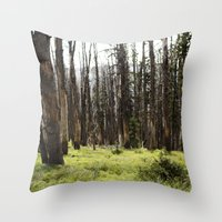 YELLOWSTONE FOREST Throw Pillow