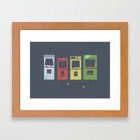 Arcade Machines Framed Art Print