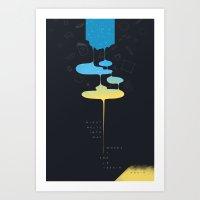 End/Begin Art Print