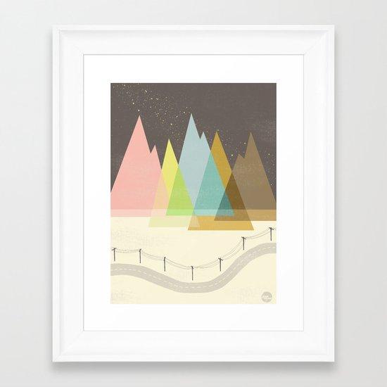 Highway Under Stars Framed Art Print