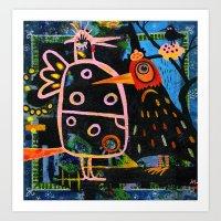 spring bazaar Art Print
