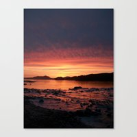 Frozen Sunset Canvas Print