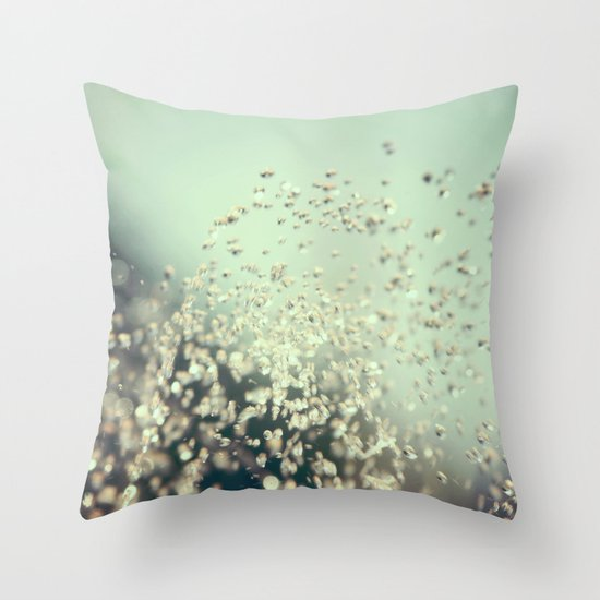 Water Jewels Throw Pillow