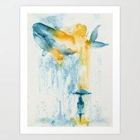 A Majestic Midsummer Rain Art Print