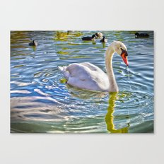Surreal Swan Canvas Print