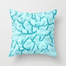 Mint Thorn Throw Pillow