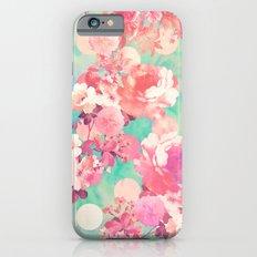 Romantic Pink Retro Flor… iPhone 6 Slim Case