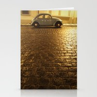 vw Stationery Cards featuring VW Beetle by Maria Heyens