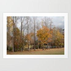Autumn at Willow Lake Golf Club Art Print