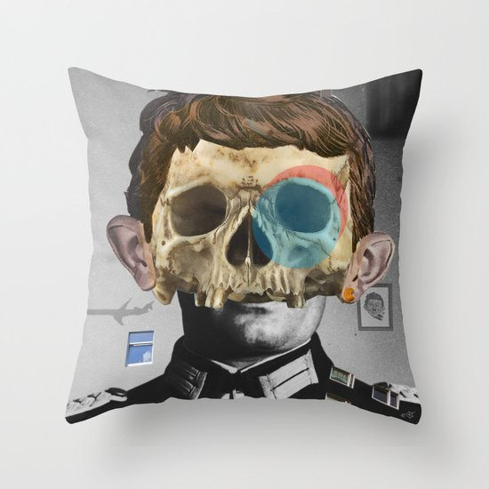 War Collage 2 Throw Pillow