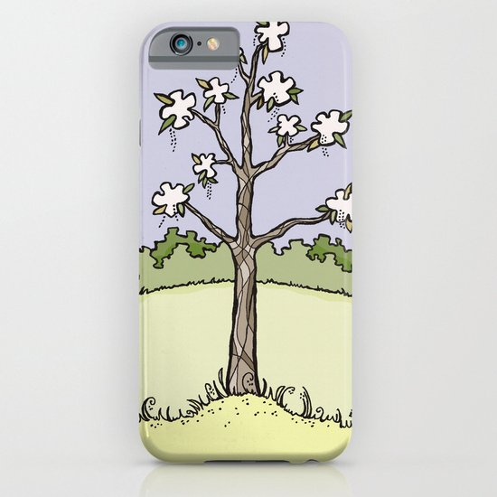 White Flower Tree iPhone & iPod Case