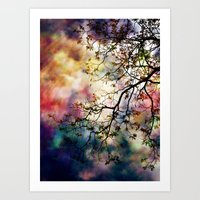 The Tree Of Many Colors Art Print