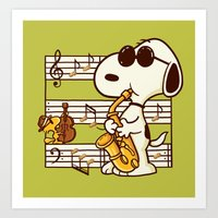 Happiness Is Music Art Print