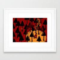 The Dancing Monster In T… Framed Art Print