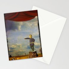 The boy and his mouse Stationery Cards