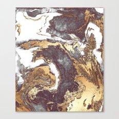 Black White Gold Canvas Print