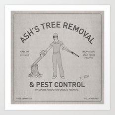 Ash's Classified Ad Art Print