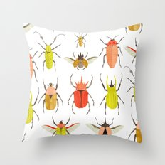 Scientific Chart: Beetles Throw Pillow